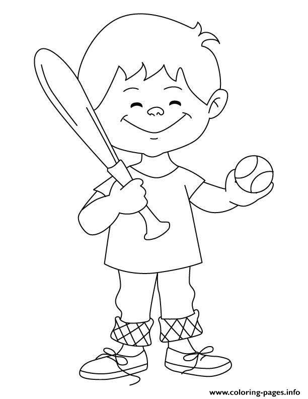 Coloring Pages Printable Baseball Kid97ff coloring pages