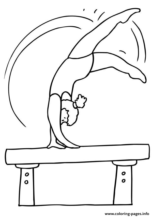 Sporty S For Kids Gymnasticsf31c coloring pages