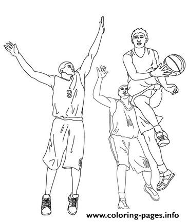 Coloring Pages Of Basketball Players63a4 coloring pages