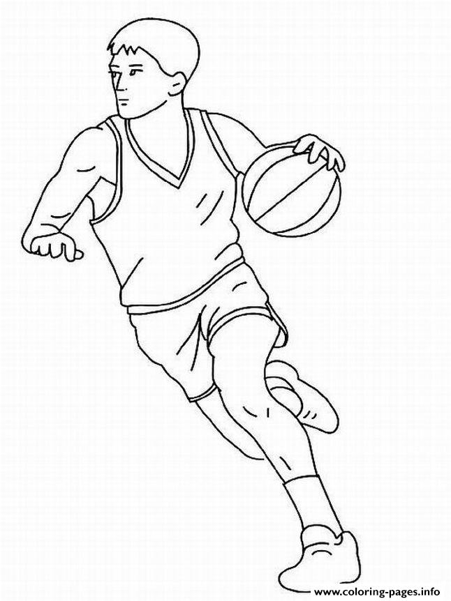 Basketball Coloring Pages Pdf : Kids basketball sf a coloring pages printable