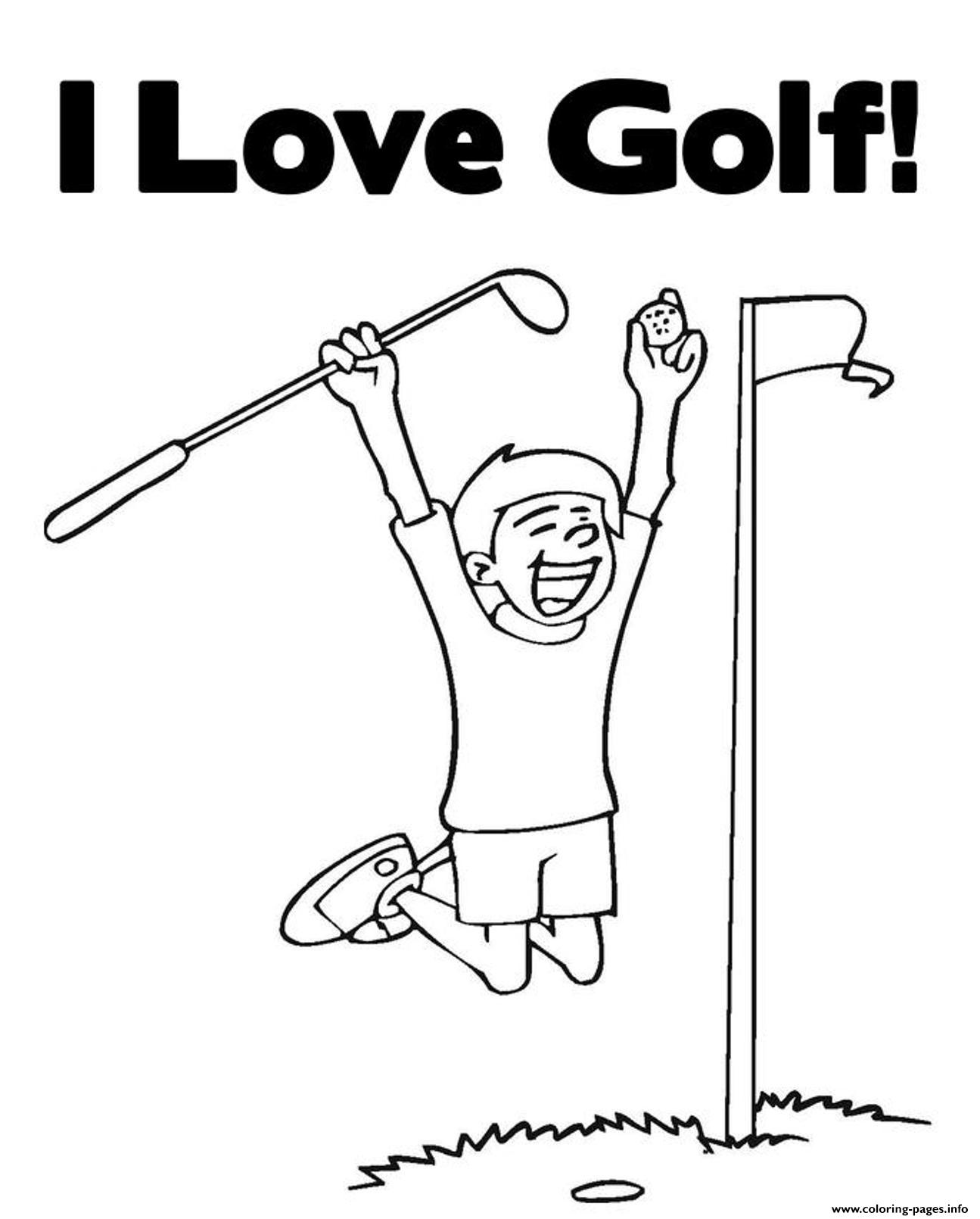 I Love Golf Sports S3d99 coloring pages