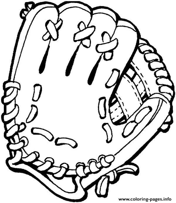 Glove Softball Dd4c coloring pages