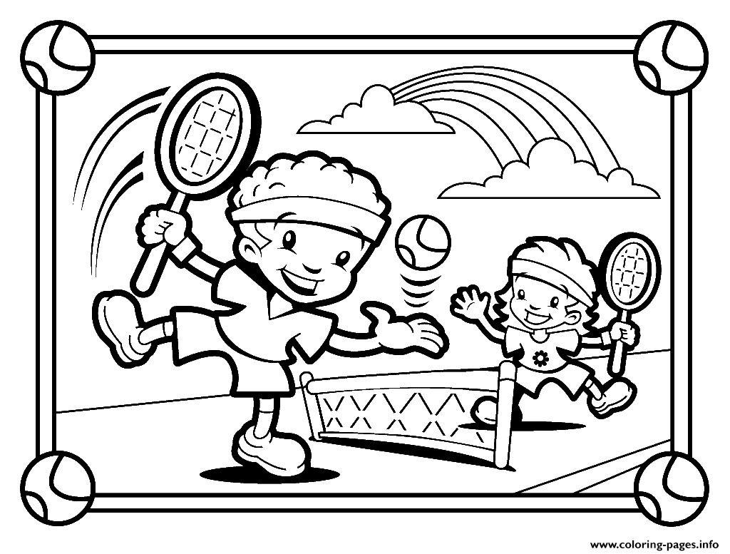 activity sheets coloring pages girls jump two kids playing