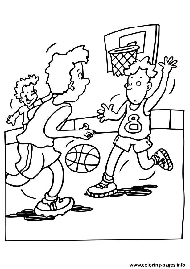 Playing Basketball Scd17 coloring pages