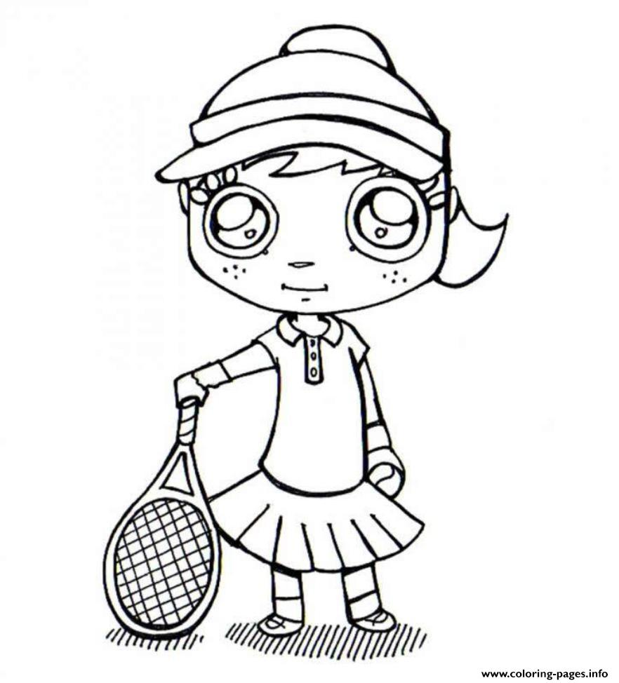 Tennis S Girle57b Coloring Pages Printable