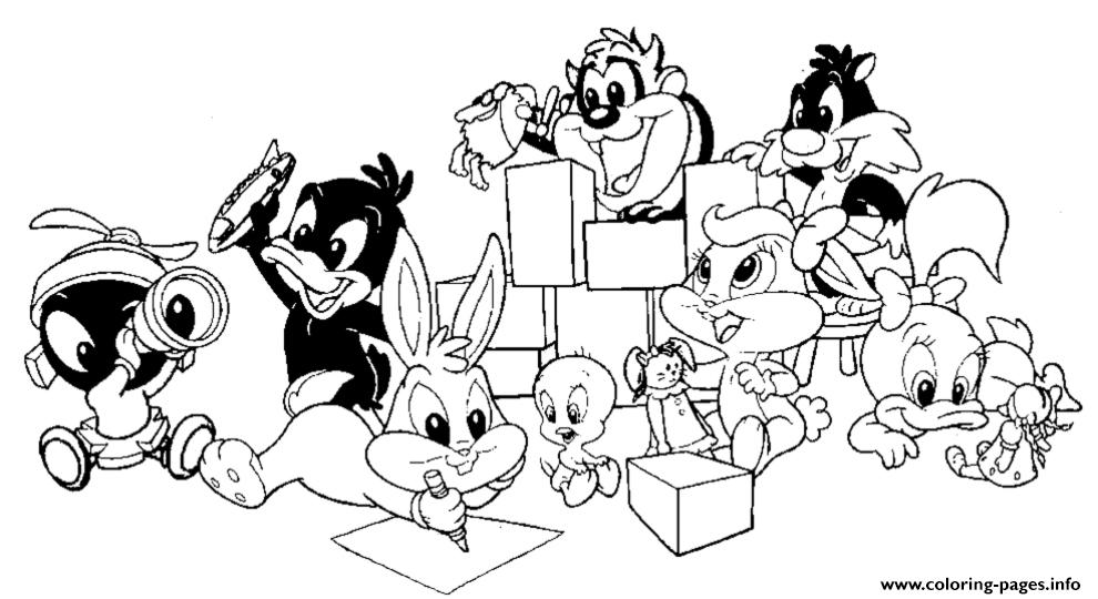 All baby looney tunes s freed2b1 coloring pages printable for Baby looney tunes taz coloring pages