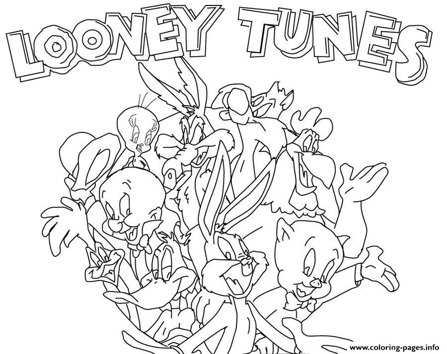 Cute Baby Looney Tunes Coloring Page - Get Coloring Pages | 714x900