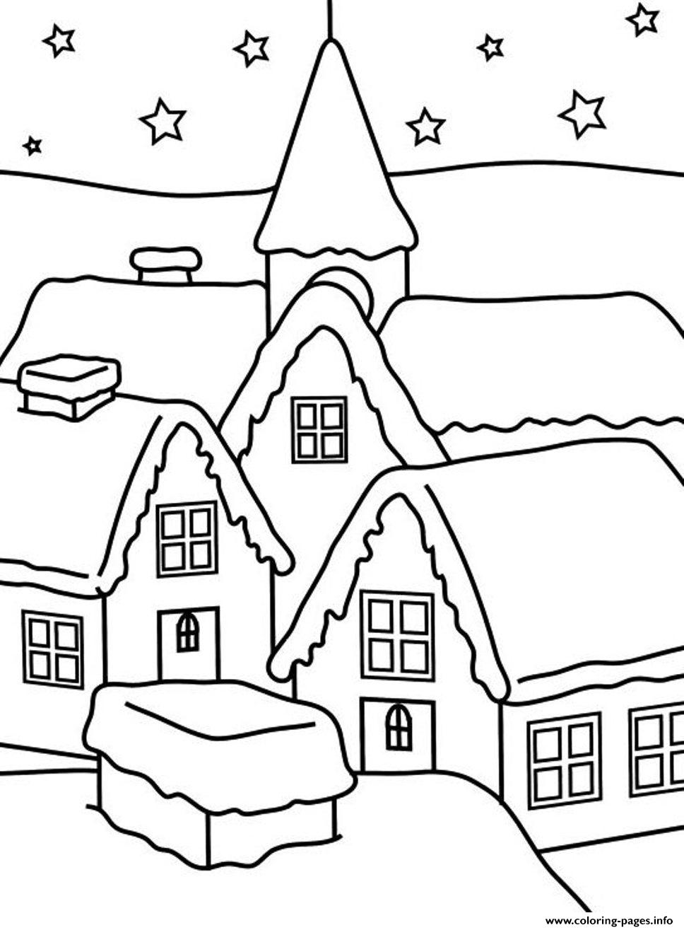 House Of Winter S For Kids2411 Coloring Pages Printable