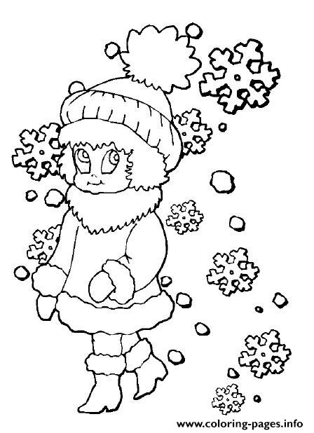 Girl Winter Sc74d coloring pages