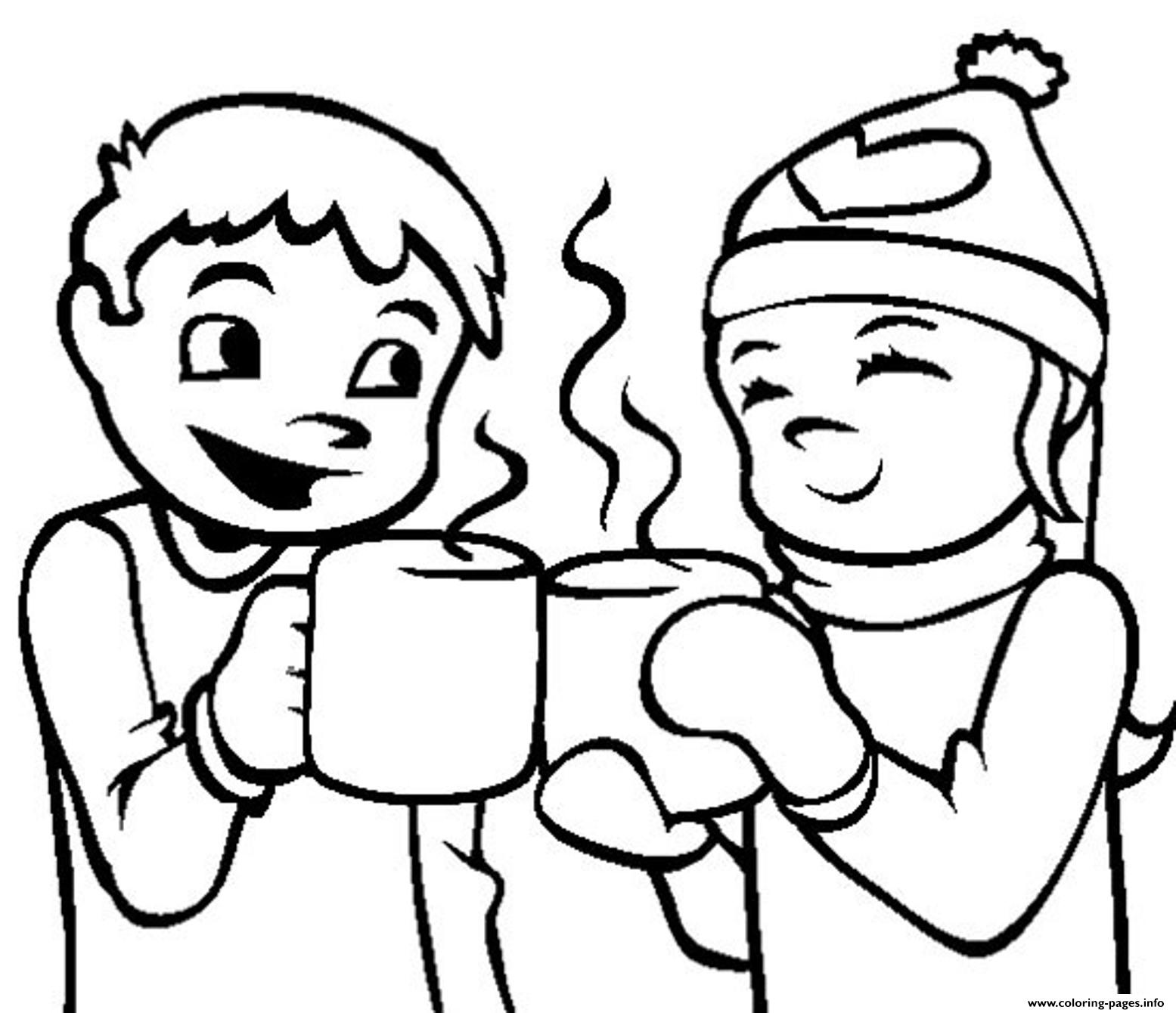 Winter Hot Chocolate6246 coloring pages