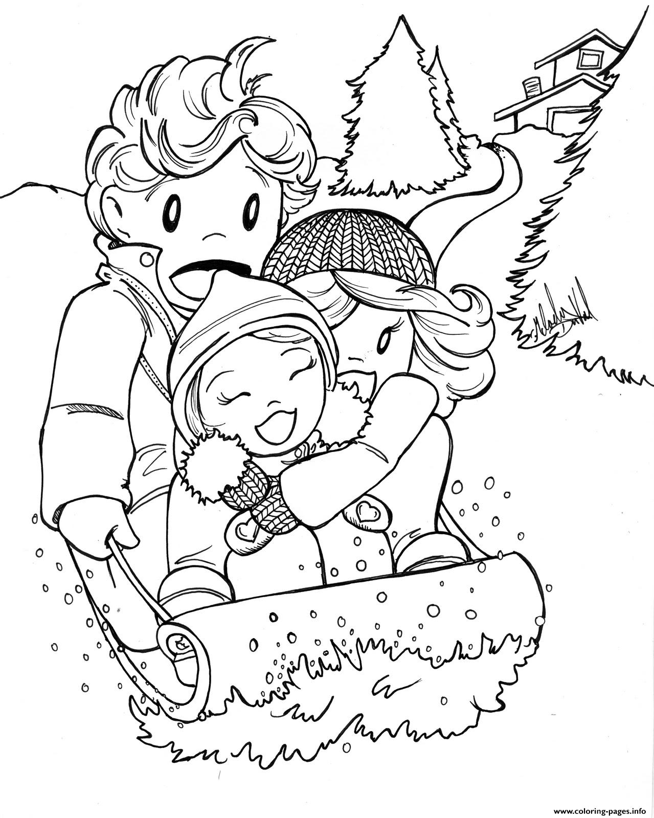 Winter Fun Kids5ed0 coloring pages