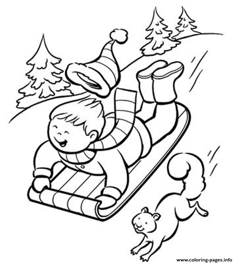 Fun Winter Color Pages To Print380d coloring pages