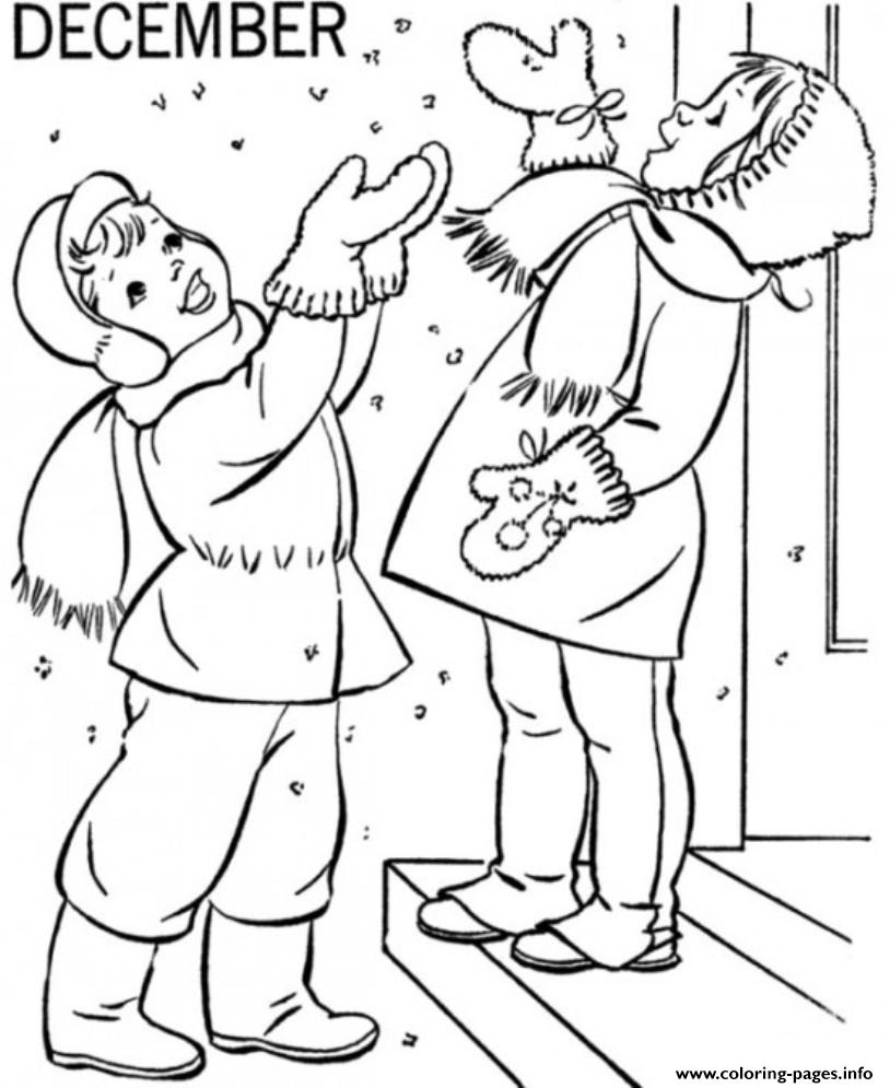 December Winter S For Girls4cc5 Coloring Pages Printable