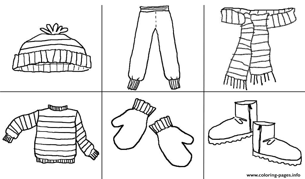 A must stuff winter clothes s42a2 coloring pages printable for Clothing coloring page