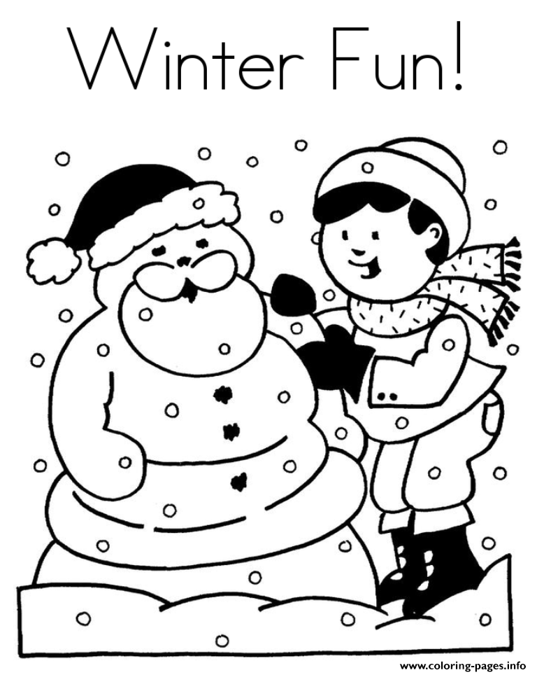 Winter Fun Color Pages To Print1080c Coloring Pages Printable