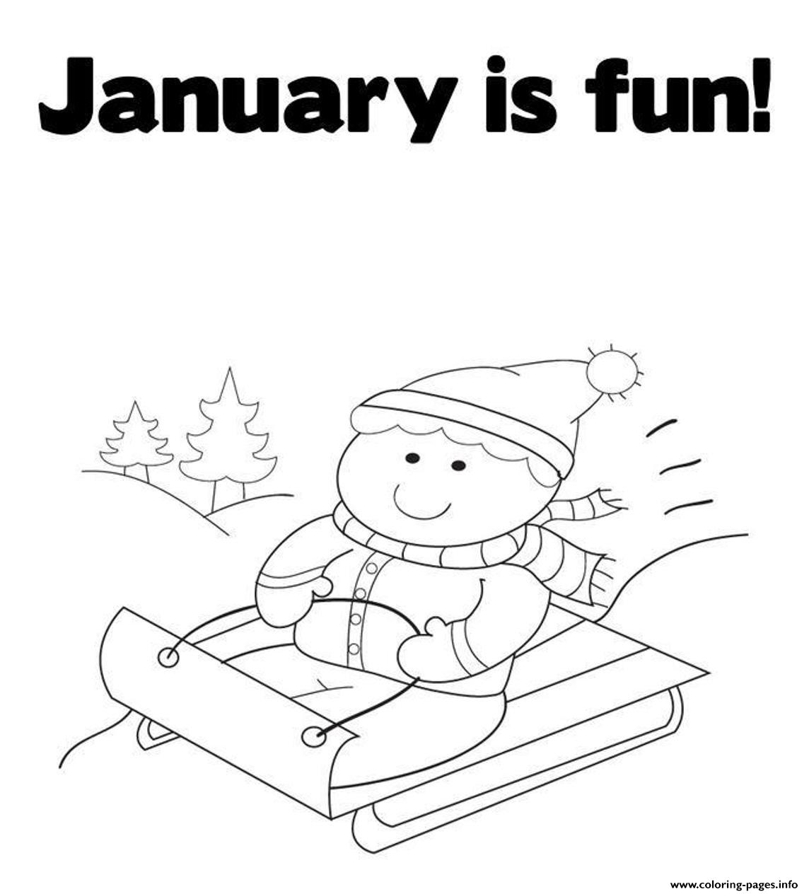Winter S Printable January Is Fun7a12 Coloring Pages Printable