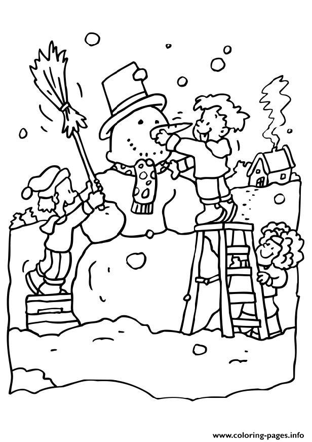 Playing With Snow In Winter S Printables0269 coloring pages
