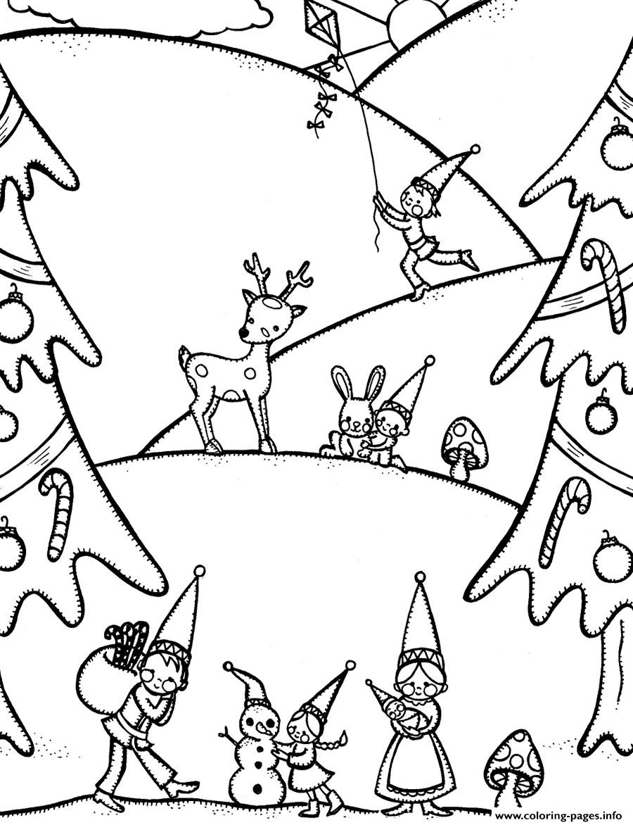 Gnome free winter sc15b coloring pages printable