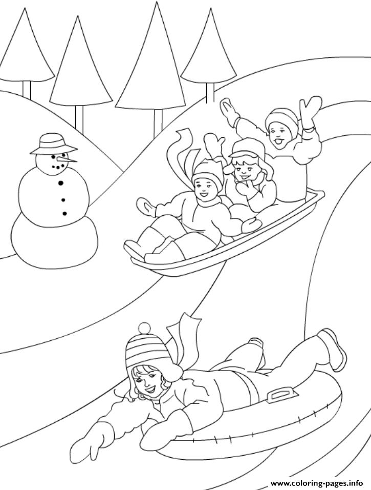 Playing In The Winter Day 3a62 coloring pages