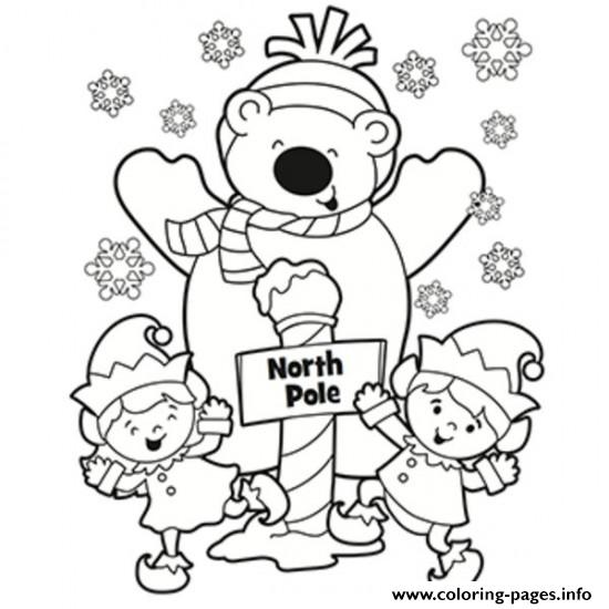 Winter S North Pole Printable977d coloring pages