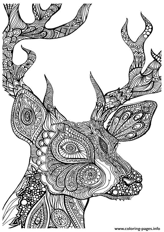 adult coloring pages deer coloring pages - Deer Coloring Pages