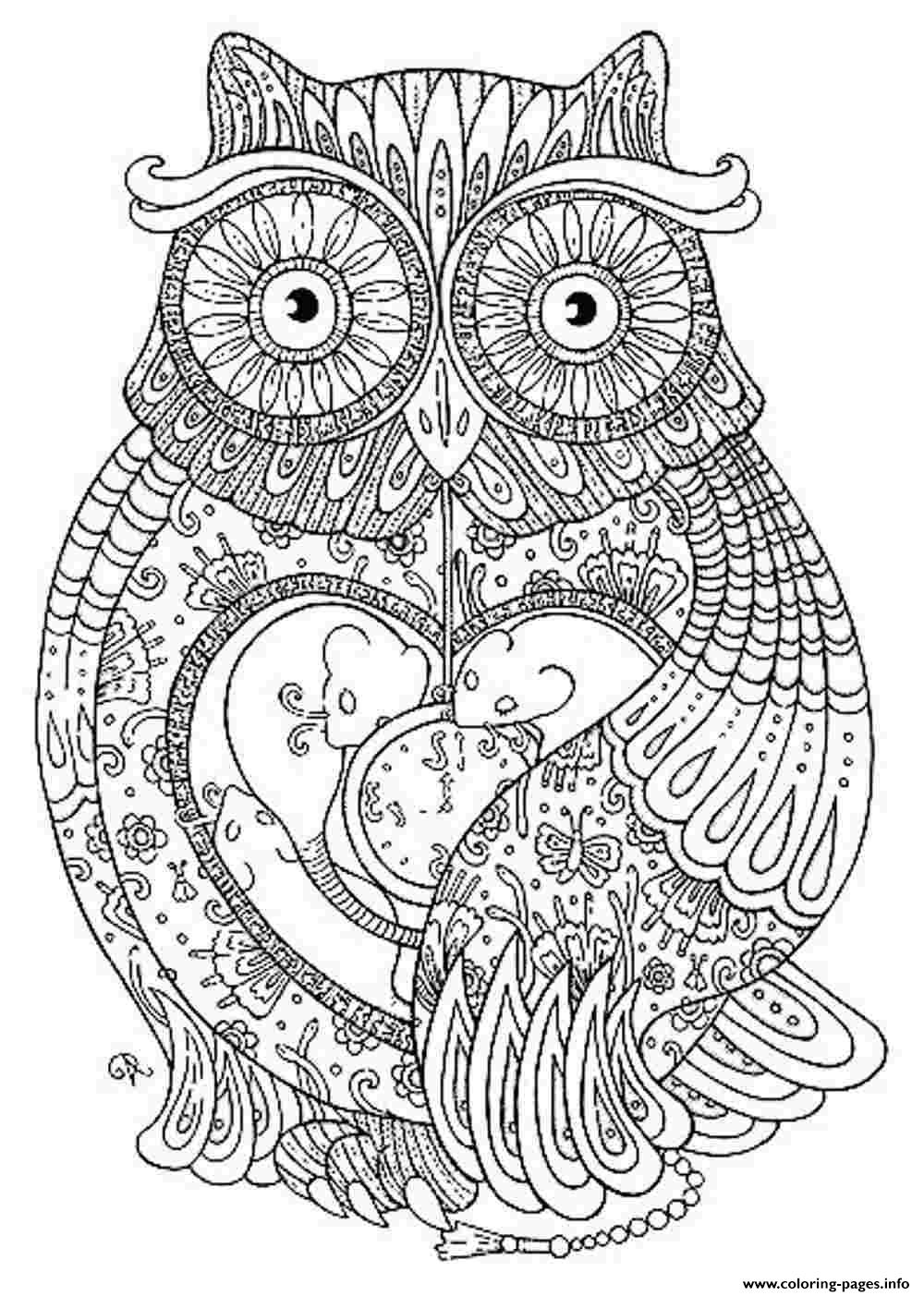 Animal Coloring Pages For Adults Coloring Pages Printable