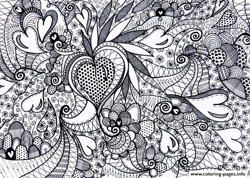 4 free adult coloring pages for Valentine's Day that will bring ... | 589x825