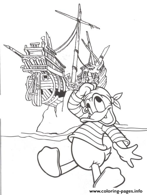 Donald As A Pirate 6625 coloring pages
