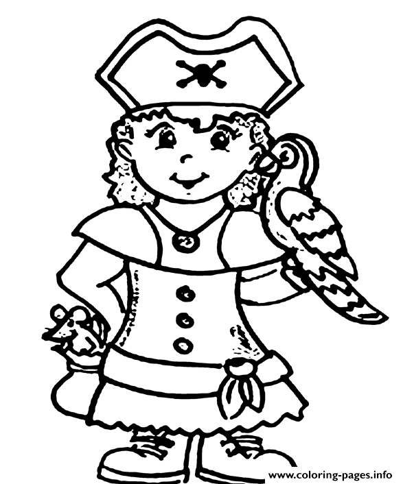 A Pirate Girl E14493874418473780 Coloring Pages Printable