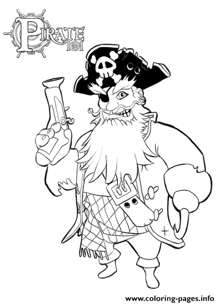 Pirate With Beardsc021 coloring pages