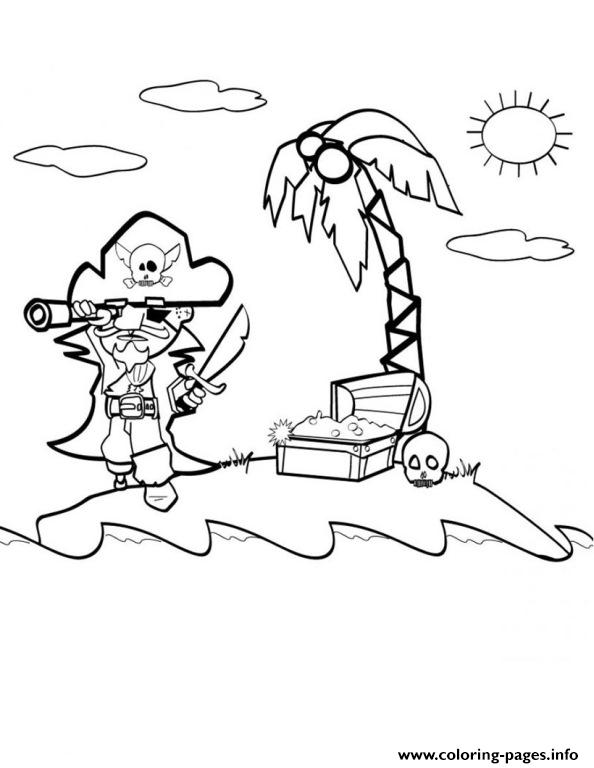 An Island With A Pirate350e coloring pages