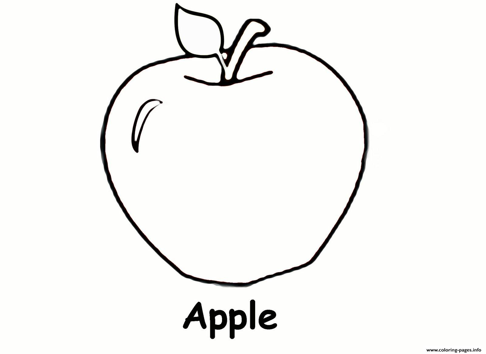 Apple Fruit S5057 Coloring Pages Printable