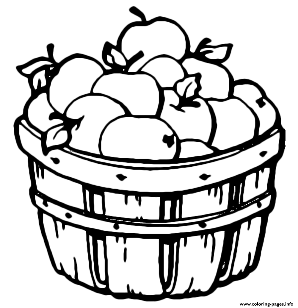 barrel apple fruit s80ad coloring pages printable