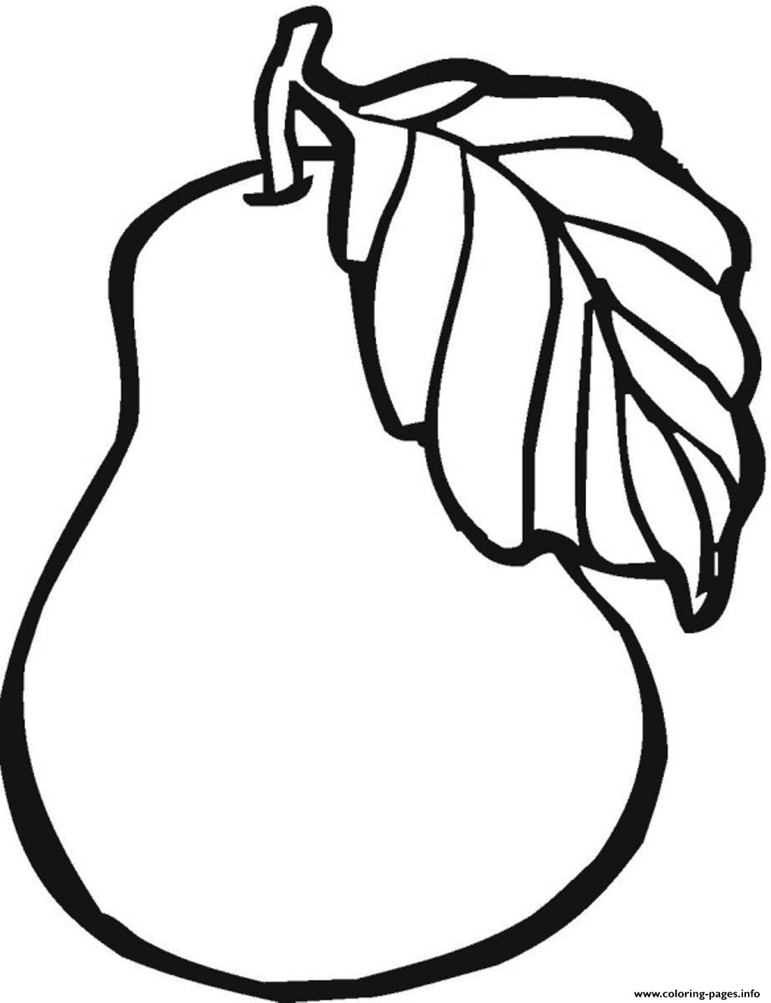 Printable Pear Fruit Sb57b Coloring
