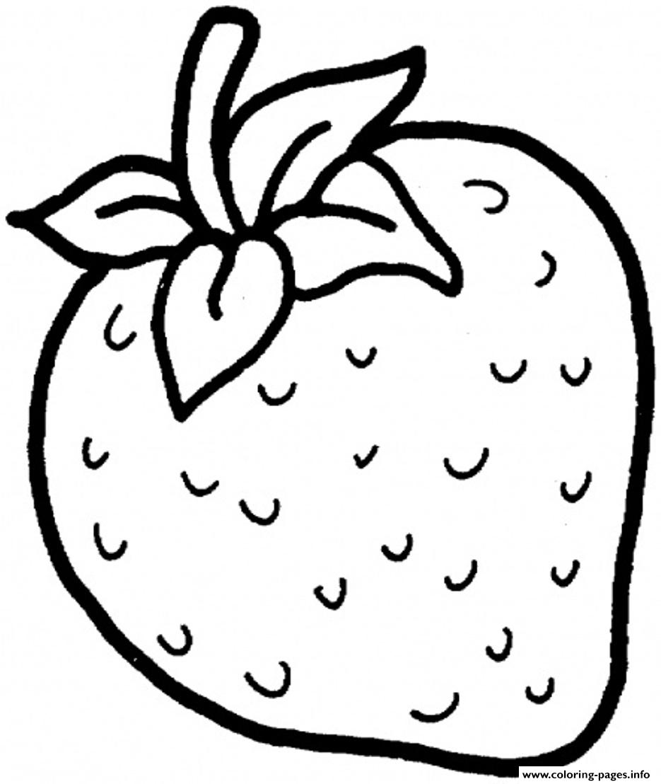 Strawberry Fruit Sbe9a Coloring Pages Printable