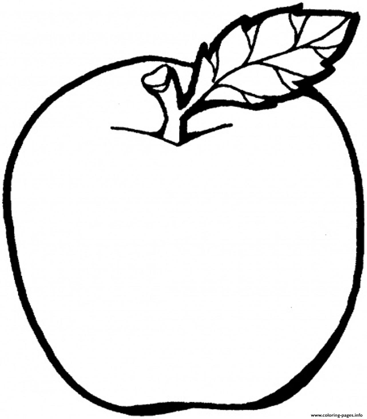 apples coloring pages for kids - photo#26