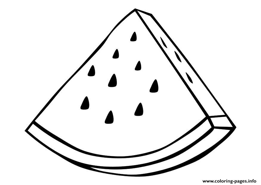 Watermelon Fruit Sfdbb Coloring Pages Printable