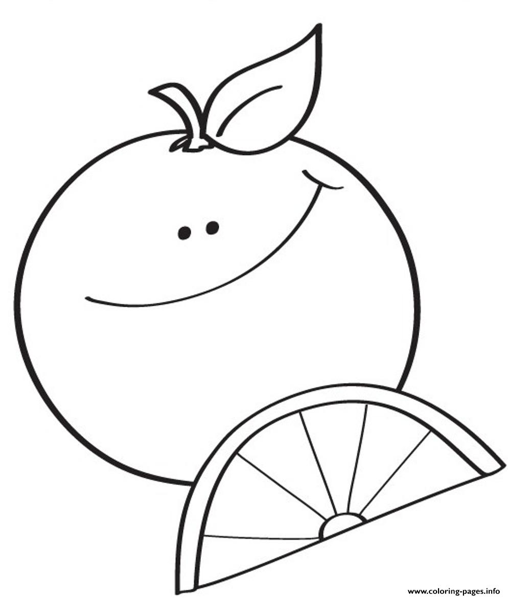 orange coloring pages