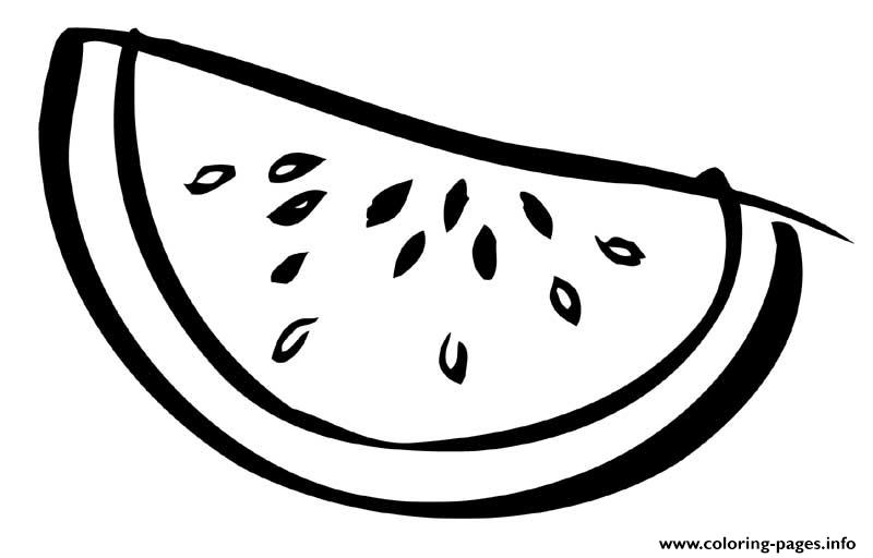 Sliced Watermelon Fruit Sbe4b coloring pages