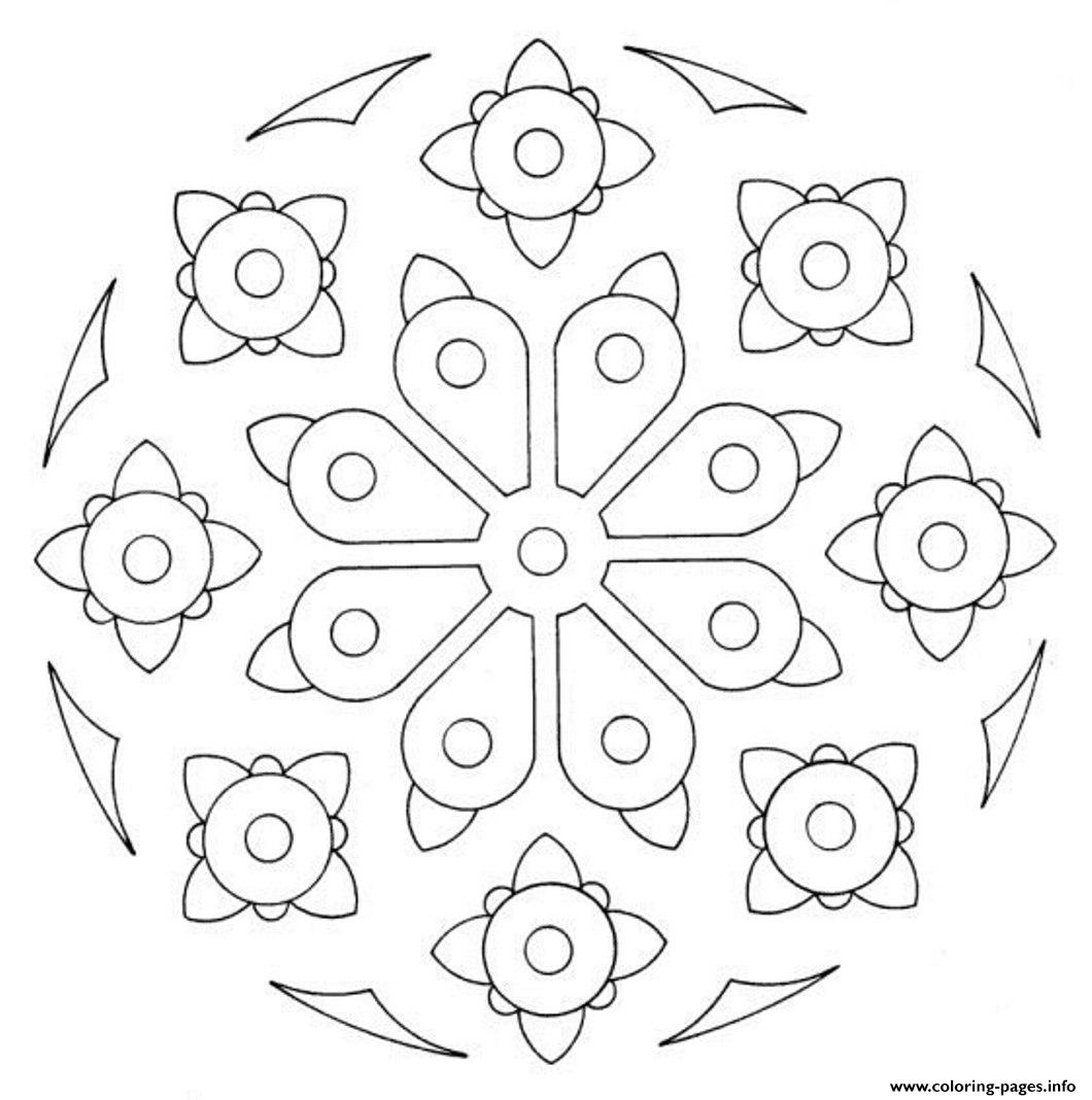 Simple Printable Mandala Sc107 coloring pages