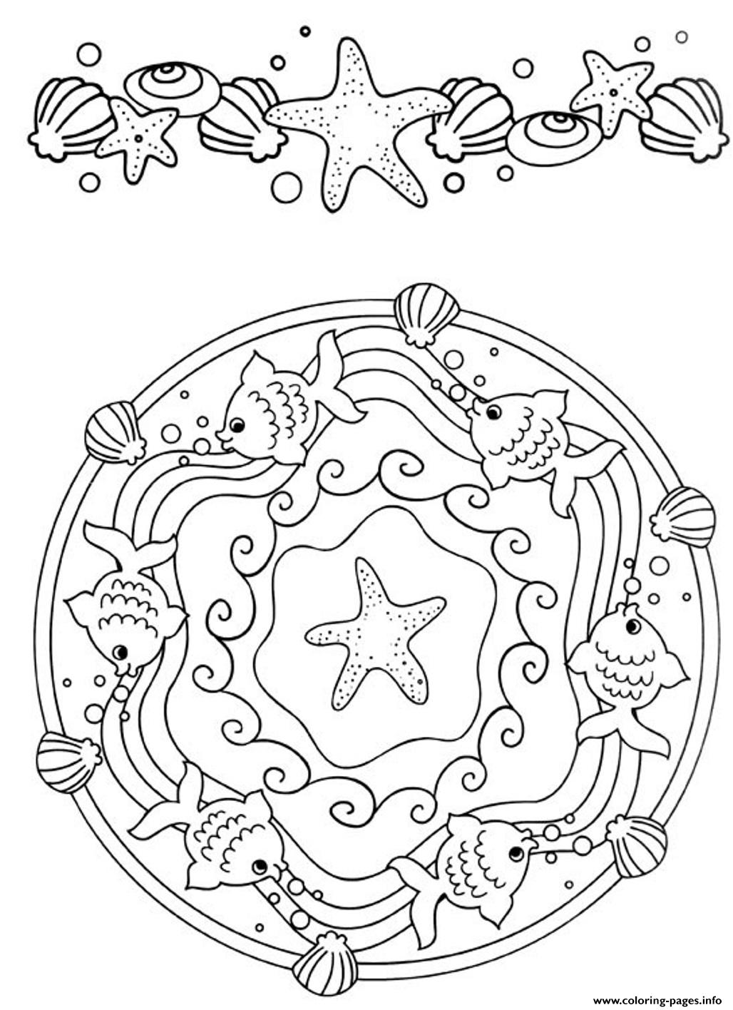 Mandala S Beautiful Oceandbb2 coloring pages