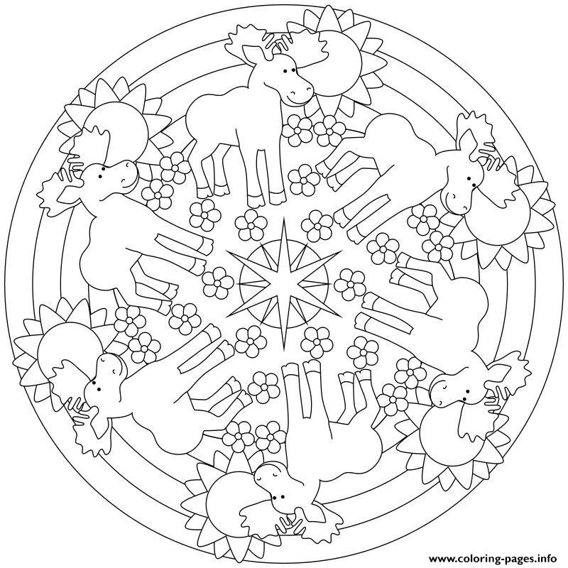Moose Mandala Sdc85 coloring pages