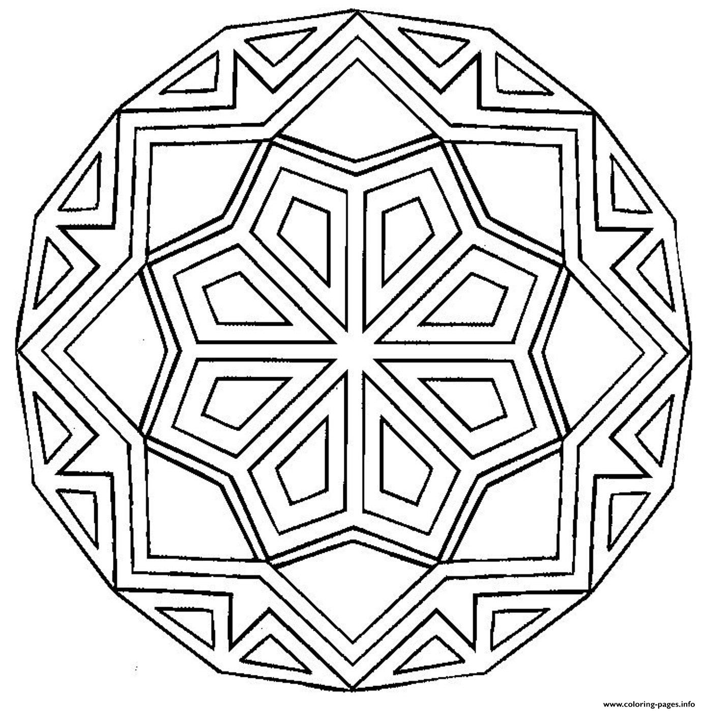 Printable Mandala S96ad coloring pages