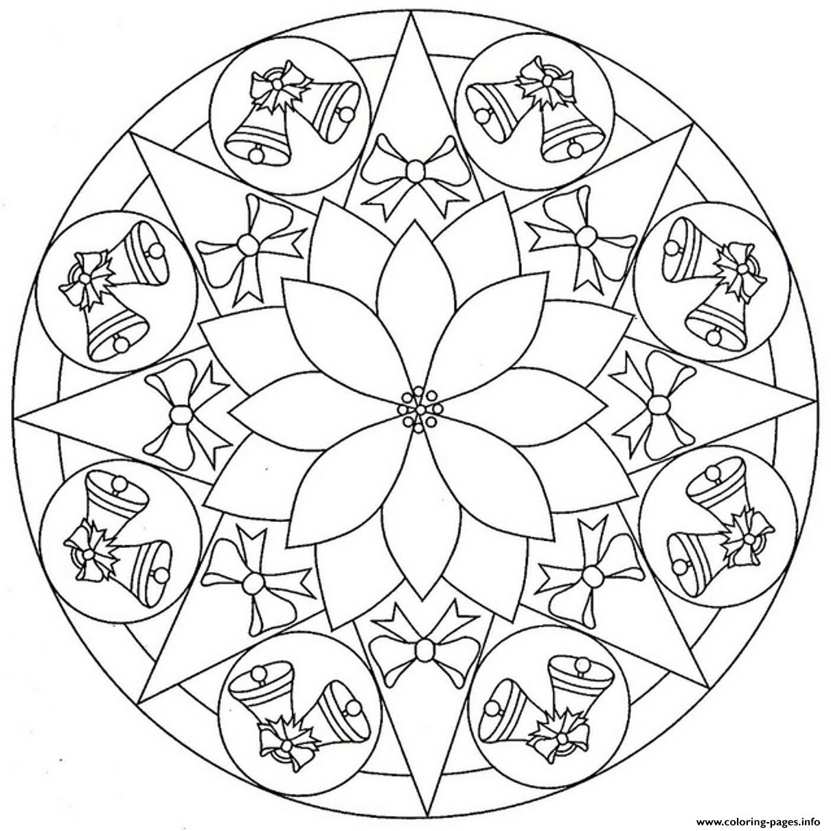 Bell Mandala S3f7f coloring pages