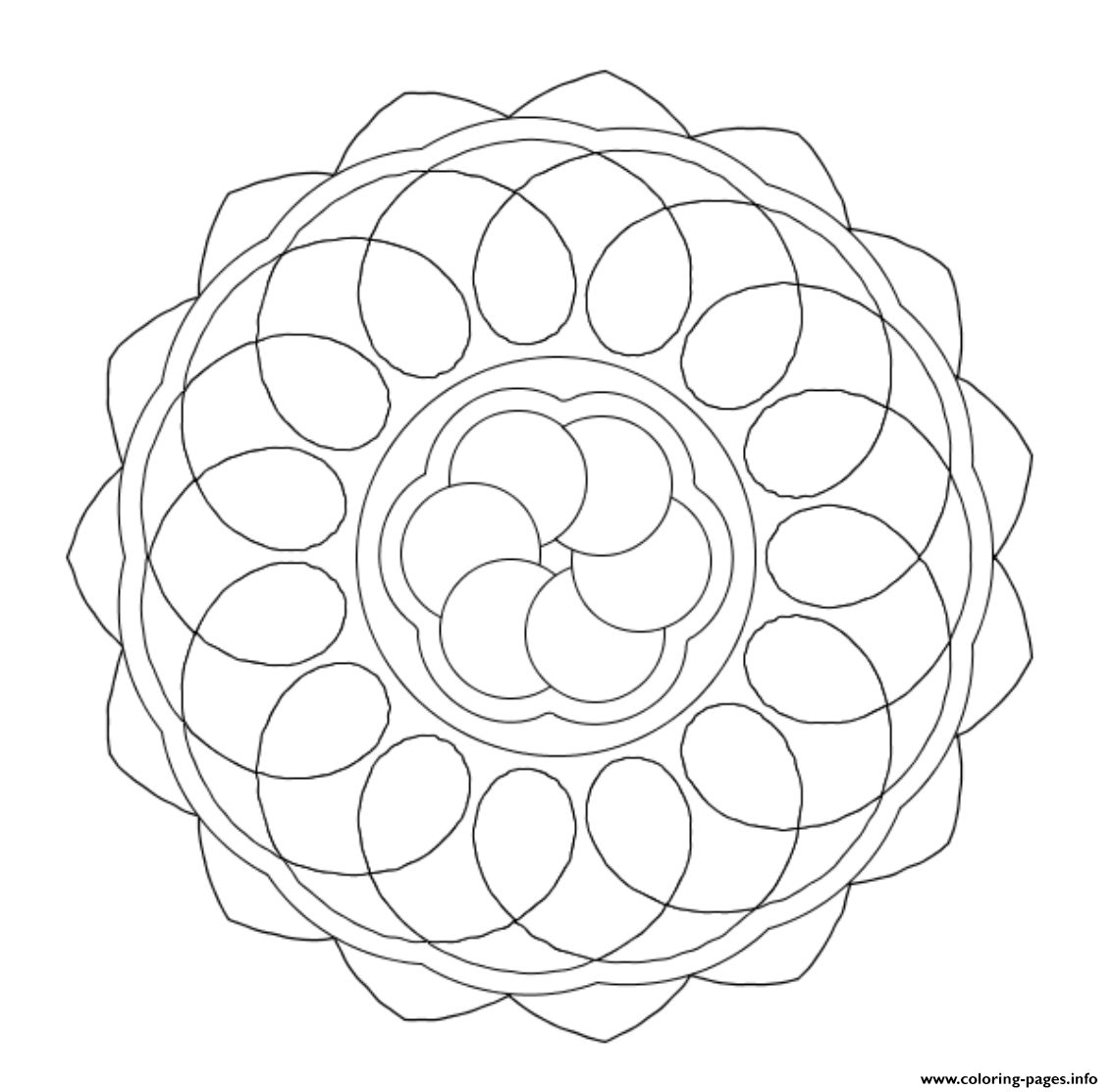 Easy Mandala Sc4f9 coloring pages