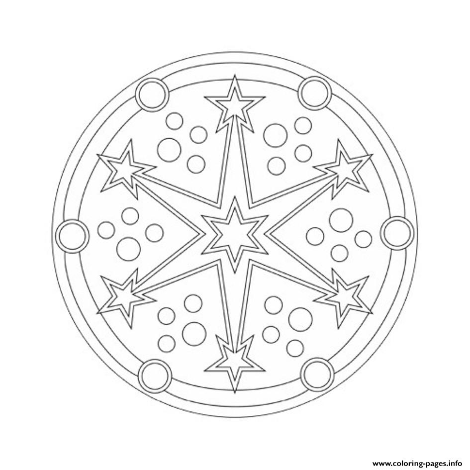 Mandala S Starsb504 coloring pages