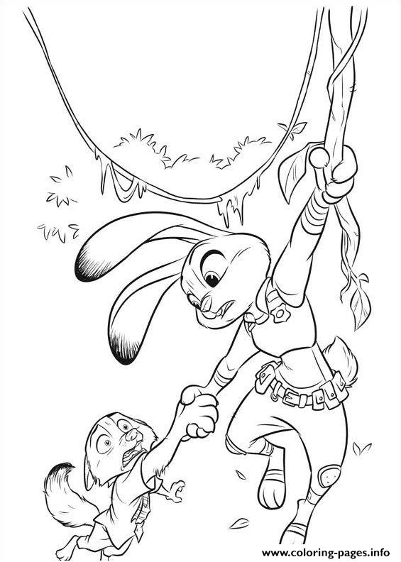 Zootopia 14 Coloring Pages
