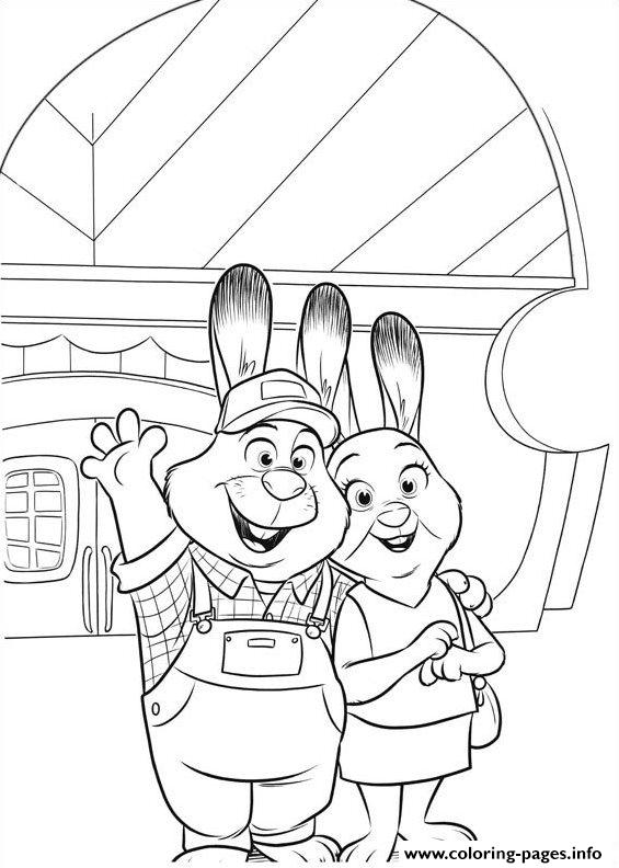 Zootopia 02 coloring pages printable Coloring book zootopia