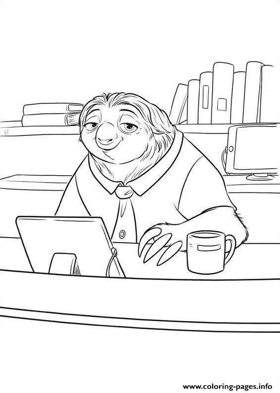 Zootopia 10 coloring pages