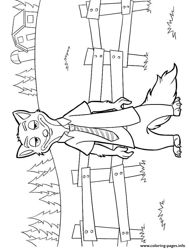 Zootopia Nick Wilde Coloring Pages